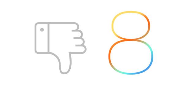 iOS 8 Thumbs Down