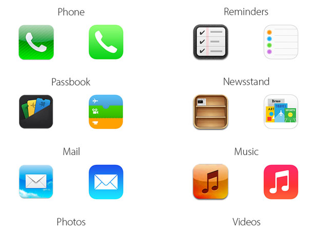 iOS 7 App Icon Facelift