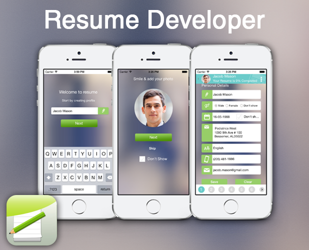 resume developer  u2013 create resume on the go