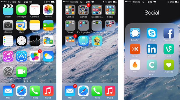 How to smartly sort the iphone app chaos the app for Cool way to arrange iphone apps
