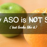What distinguishes ASO from SEO?